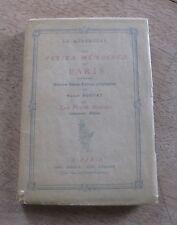 LES PETITS MEMOIRES DE PARIS - 1st PB 1909 - illustrated plates French France