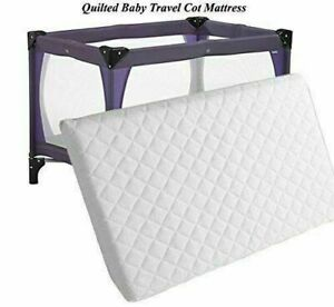EXTRA THICK Travel Cot Mattress 95 x 65 x 5 CM QUILTED Breathable - UK Made