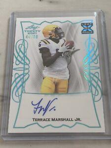 Terrace Marshall Jr. 2021 Leaf Trinity Football Auto Rookie RC #d /50