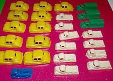 Vintage 1950's Empire Hard Plastics Car & Trucks Plastic Lot- Yellow