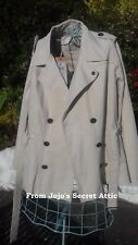 Size 22 Short Trench coat style jacket New + Tags