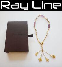 100% authentic LOUIS VUITTON necklace Charm Necklace Metal Gold M65544(USED)