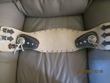 Perfect Buco Antique Leather Motorcycle Kidney Riding Belt Harley Indian