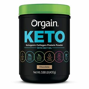 Orgain - Keto Collagen, Paleo Friendly Protein Powder with MCT Oil 1lb Chocolate