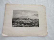 ANGLETERRE GRAVURE XIXe 32 x 20 CM VUE DE FARNWORTH PAPER HILLS LANCASHIRE