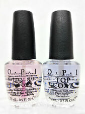 Nail Lacquer Duo-  opi Base Coat NT T10 and Top Coat NT T30 for Natural Nails
