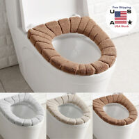 2Sets Bathroom Toilet Seat Closestool Washable Soft Warmer Mat Cover Pad Cushion