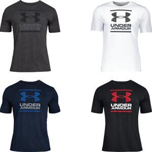 Mens Under Armour T Shirt T-Shirt UA GL Cotton Short Sleeve TShirt Crew Tops Tee
