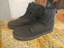 DOC DR Martens Black High Top Boot Lace Up Sneaker Shoe SHOREDITCH US 10 42