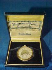 Early 20thc HAMILTON POCKET WATCH 17 Jewels 14k GOLD FILLED Case RUNS Orig BOX