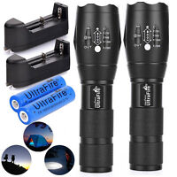Tactical Ultrafire Flashlight T6 LED High Power 5-Mode Zoom Focus+18650 Battery