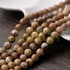 30pcs 8mm Round Natural Stone Loose Gemstone Beads Picture Stone
