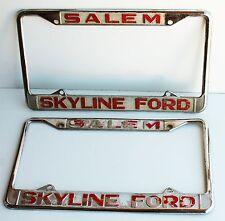"Vintage License Plates PAIR Skyline Ford Salem Set A  6"" x 12"""