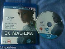 EX_MACHINA (2015 Blu-Ray of Alex Garland film) Oscar Isaac Domhnall Gleeson