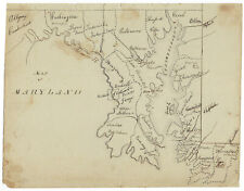 Maryland - Early 19th-Century Hand-Drawn Map