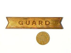 Vintage Copper GUARD Railways maybe  Badge #V109