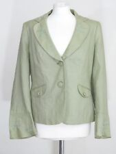 Per una ladies green pure linen embellished smart occasion jacket size 12