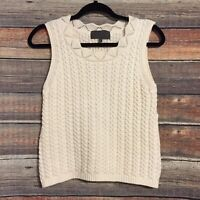 Anthropologie Sunday In Brooklyn Xs Cream Sweater Knit Tank Top