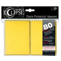 Ultra PRO Matte Eclipse Yellow Standard Deck Protector Sleeves 80ct Pack