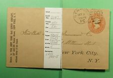 DR WHO 1884 NY FANCY CANCEL PO #U147 STATIONERY SEE PHOTO FOR INFO  f52465
