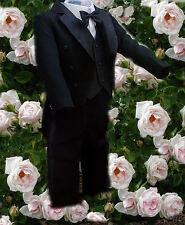 Frack Kinder Anzug 5-Teilig Gr.86  schwarz / Taufe