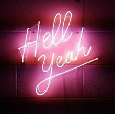 """Hell Yeah Neon Sign Lamp Light Acrylic 18""""x18"""" Glass Bedroom Bar With Dimmer"""