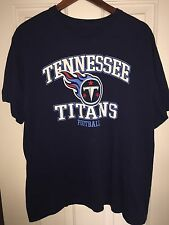 NFL Team Apparel Tennessee TITANS Men's Medium M T-Shirt Blue Cotton EUC