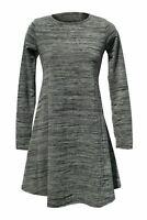 NEW Ex River Island Ladies Grey Marl A Line Long Sleeve Mini Dress Size 6