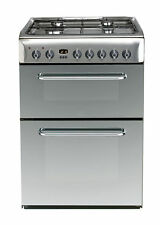 Indesit Kdp60ses Standing 60cm Double Cavity Dual Fuel Cooker Stainless