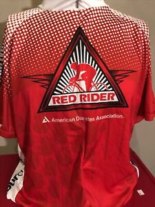 Primal Red Rider Tour De Cure Cycling Jersey Mens 3XL XXL