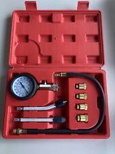8PCS Petrol Gas Engine Cylinder Compression Test Gauge Kit Automotive Tester