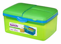 Sistema Large Lime Green Quaddie 4 Compartment Lunch Box 2 Ltr School BPA Free