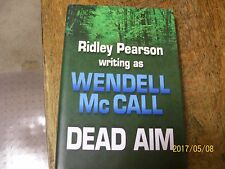 DEAD AIM BY RILEY PEARSON WRITING AS WENDELL McCALL, LARGE PRINT, HARD COVER.
