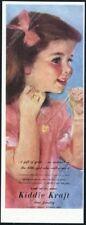 1946 Kiddie Kraft costume jewelry for kids little girl locket art vintage ad