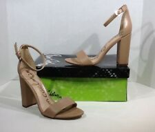 e6c399025843 Sam Edelman Yaro Women s Size 7.5 M Nude Leather Classic Heels Shoes ZY-1402