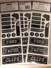 3 Sets Chalkboard Theme Supply Labels - Classroom, Homeschool, Home Office, Dorm