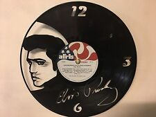 Repurposed Vinyl Record Clocks and Wall Art - Elvis Presley Signature With Label