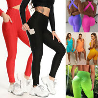 Women's Athletic Stretch Pants Leggings Sports Yoga Workout Gym Fitness Trousers