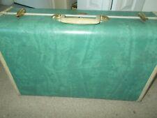 Vintage 1940's Samsonite Hardshell Suitcase 21 Inch Seafoam Green Rugged Sides