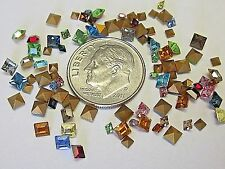 SWAROVSKI SQUARE 2mm & 3mm RHINESTONES ART 4401 CRYSTAL LOT VTG JEWELRY REPAIR