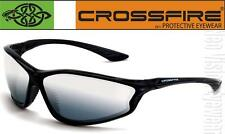 Crossfire KP6 Silver Mirror Lens Black Safety Glasses Sunglasses Shooting Z87.1