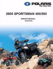 Polaris Repair Service Workshop Shop Manual Book 2005 Sportsman 500