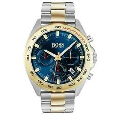 New Hugo Boss HB1513667 Men Sport Intensity Two-Tone Gold Silver Watch