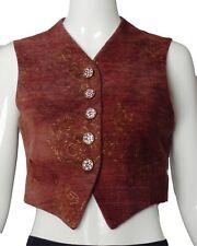 Romeo Gigli-1990s Brown & Gold Velvet Vest, Size-4