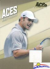 2007 Ace Authentic #AC-4 Andy Roddick MATCH-WORN GAME USED JERSEY !