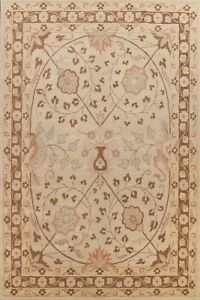 9x12 Floral Traditional Oriental Area Rug Hand-tufted Wool Classic BEIGE Carpet