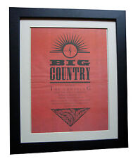 BIG COUNTRY+The Crossing+POSTER+AD+RARE+ORIGINAL 1983+FRAMED+EXPRESS GLOBAL SHIP