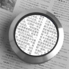 75mm Magnifying glass desk loupe with LED light 6x magnification MG1303 WE