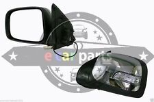 HOLDEN RODEO RA 3/03-9/08 L/H DOOR MIRROR BLACK/CHROME ELECTRIC LED INDICATOR