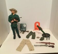 Vintage 12 Inch GI Joe Action Man Jungle Fighter Figure With Lot Of Accessories